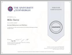 Animal Behaviour and Welfare by The University of Edinburgh