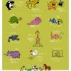 ポスター 野生動物たちにこんなことを教えられるなら…(DoggieDrawings.net)
