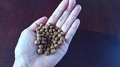 「『ドッグフード50粒?!』と驚かれる方多いのですが、50粒って実際こんなものですよね。うちの犬たちは25~27キロの大きさの犬たちなので、この50粒は微々たるものです・・・。でもやっぱり食事の量はこの分減らしてます。」(Pawsitive Doggy Life ドッグトレーナー Hazuki Tokuue(Arizona, U.S))